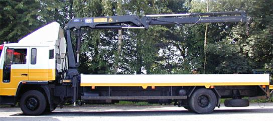 Transport Verdonck Gt Vrachtwagen Met 14 Ton Meter Kraan